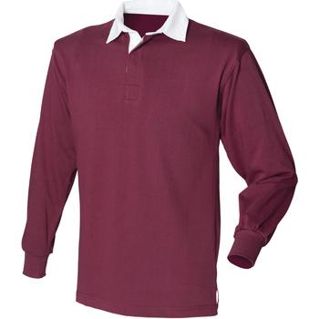 vaatteet Miehet Pitkähihainen poolopaita Front Row Rugby Burgundy