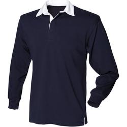 vaatteet Miehet Pitkähihainen poolopaita Front Row Rugby Navy