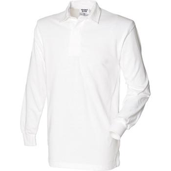 vaatteet Miehet Pitkähihainen poolopaita Front Row Rugby White