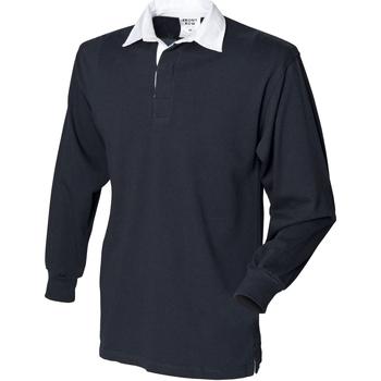 vaatteet Miehet Pitkähihainen poolopaita Front Row Rugby Black
