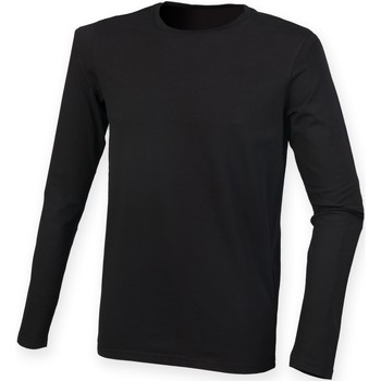 vaatteet Miehet T-paidat pitkillä hihoilla Skinni Fit SF124 Black