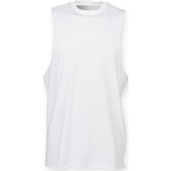 vaatteet Miehet Hihattomat paidat / Hihattomat t-paidat Skinni Fit SF232 White