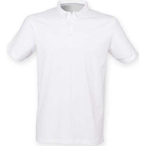 vaatteet Miehet Lyhythihainen poolopaita Skinni Fit SF440 White
