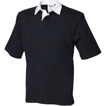 vaatteet Miehet Lyhythihainen poolopaita Front Row FR03M Black