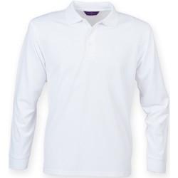 vaatteet Miehet Pitkähihainen poolopaita Henbury HB478 White