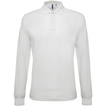 vaatteet Miehet Pitkähihainen poolopaita Asquith & Fox AQ030 White