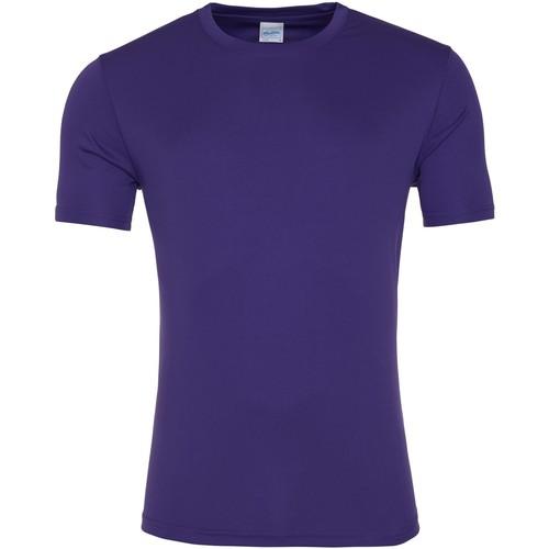 vaatteet Miehet Lyhythihainen t-paita Awdis JC020 Purple