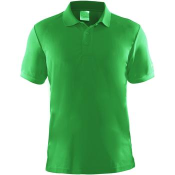 vaatteet Miehet Lyhythihainen poolopaita Craft CT045 Green
