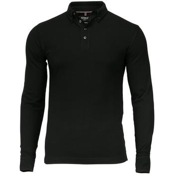 vaatteet Miehet Pitkähihainen poolopaita Nimbus NB71M Black