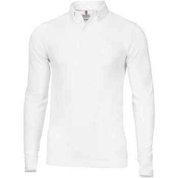 vaatteet Miehet Pitkähihainen poolopaita Nimbus NB71M White