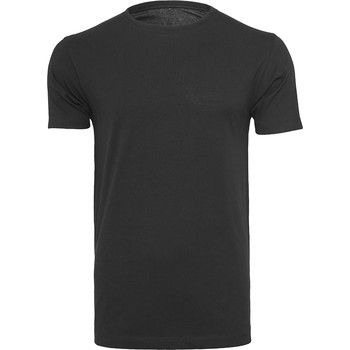 vaatteet Miehet Lyhythihainen t-paita Build Your Brand BY005 Black