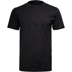 vaatteet Miehet Lyhythihainen t-paita Build Your Brand Round Neck Black