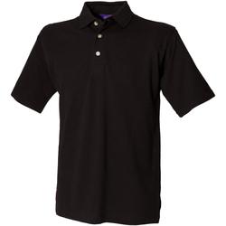 vaatteet Miehet Lyhythihainen poolopaita Henbury HB100 Black