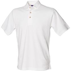 vaatteet Miehet Lyhythihainen poolopaita Henbury HB100 White
