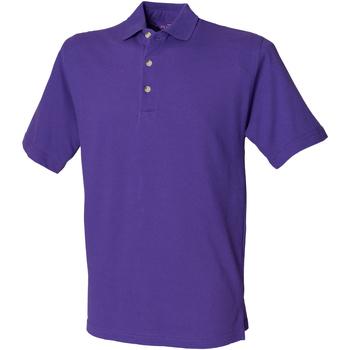 vaatteet Miehet Lyhythihainen poolopaita Henbury HB100 Purple
