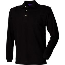 vaatteet Miehet Pitkähihainen poolopaita Henbury HB105 Black