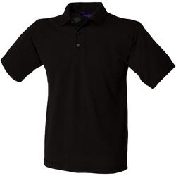 vaatteet Miehet Lyhythihainen poolopaita Henbury HB400 Black