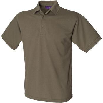 vaatteet Miehet Lyhythihainen poolopaita Henbury HB400 Olive
