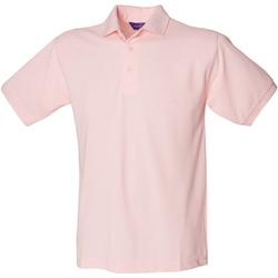 vaatteet Miehet Lyhythihainen poolopaita Henbury HB400 Pink