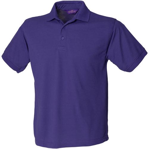 vaatteet Miehet Lyhythihainen poolopaita Henbury HB400 Purple