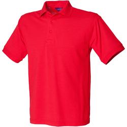 vaatteet Miehet Lyhythihainen poolopaita Henbury HB400 Red