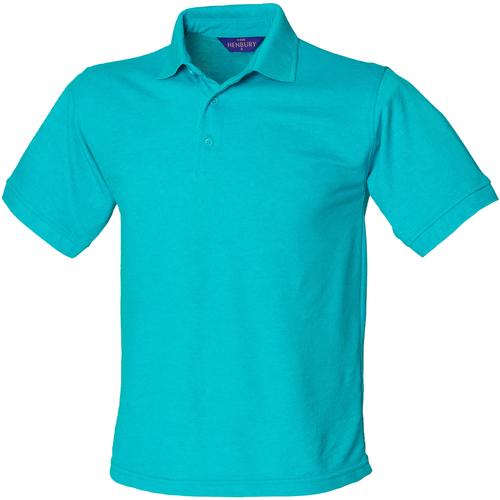 vaatteet Miehet Lyhythihainen poolopaita Henbury HB400 Turquoise