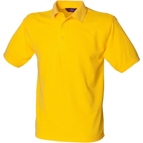 vaatteet Miehet Lyhythihainen poolopaita Henbury HB400 Yellow