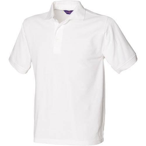 vaatteet Miehet Lyhythihainen poolopaita Henbury HB400 White