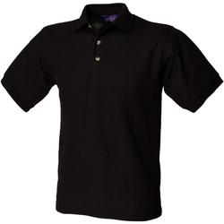 vaatteet Miehet Lyhythihainen poolopaita Henbury HB410 Black