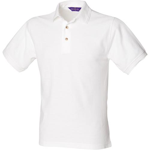 vaatteet Miehet Lyhythihainen poolopaita Henbury HB410 White