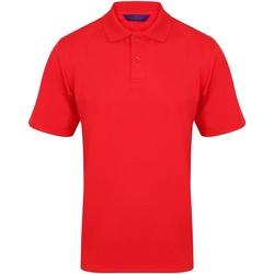 vaatteet Miehet Lyhythihainen poolopaita Henbury HB475 Red