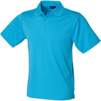 vaatteet Miehet Lyhythihainen poolopaita Henbury HB475 Turquoise