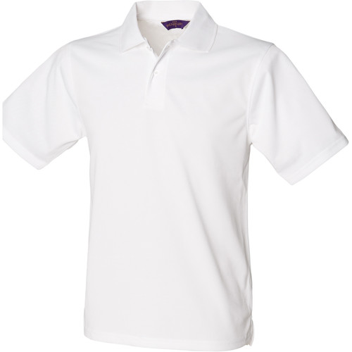 vaatteet Miehet Lyhythihainen poolopaita Henbury HB475 White