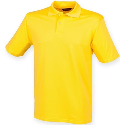 vaatteet Miehet Lyhythihainen poolopaita Henbury HB475 Yellow