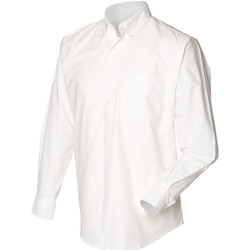 vaatteet Miehet Pitkähihainen paitapusero Henbury HB510 White