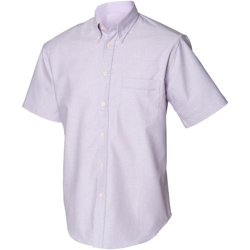 vaatteet Miehet Lyhythihainen paitapusero Henbury HB515 Lilac