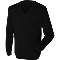 vaatteet Miehet Neulepusero Henbury 12 Gauge Black