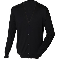 vaatteet Miehet Neuleet / Villatakit Henbury HB722 Black