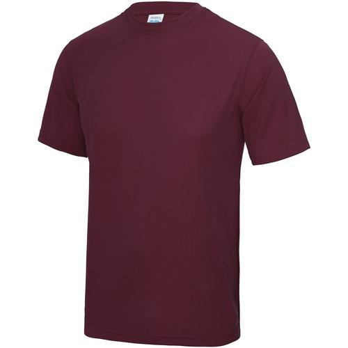 vaatteet Miehet Lyhythihainen t-paita Awdis JC001 Burgundy