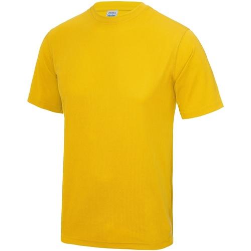 vaatteet Miehet Lyhythihainen t-paita Awdis JC001 Gold