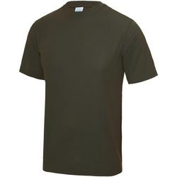 vaatteet Miehet Lyhythihainen t-paita Awdis JC001 Olive