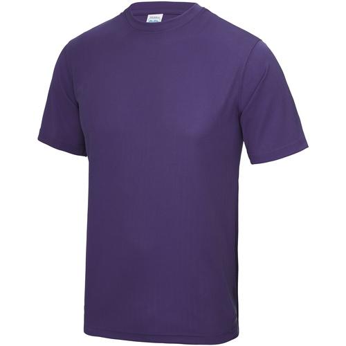 vaatteet Miehet Lyhythihainen t-paita Awdis JC001 Purple