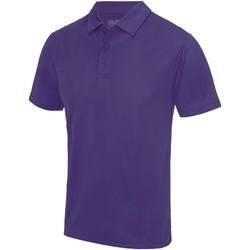 vaatteet Miehet Lyhythihainen poolopaita Awdis JC040 Purple
