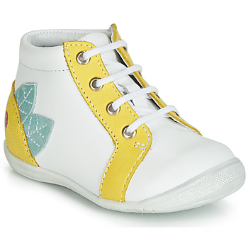 kengät Tytöt Korkeavartiset tennarit GBB FRANCKIE White / Yellow
