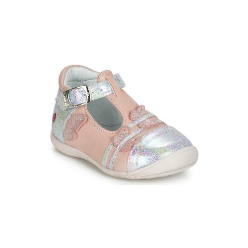 kengät Tytöt Balleriinat GBB MERTONE Pink / Hopea
