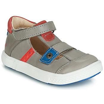 kengät Pojat Sandaalit ja avokkaat GBB VORETO Harmaa / Sininen / Punainen