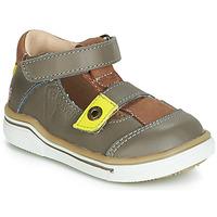 kengät Pojat Sandaalit ja avokkaat GBB PORRO Grey / Yellow
