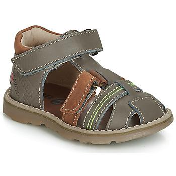 kengät Pojat Sandaalit ja avokkaat GBB SEVILLOU Grey / Brown