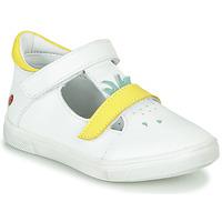 kengät Tytöt Balleriinat GBB ARAMA Valkoinen-keltainen / Dpf