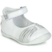 kengät Tytöt Balleriinat GBB MALLA White / Hopea